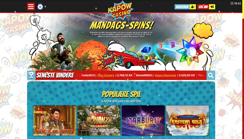 Kapow Casino anmeldelse