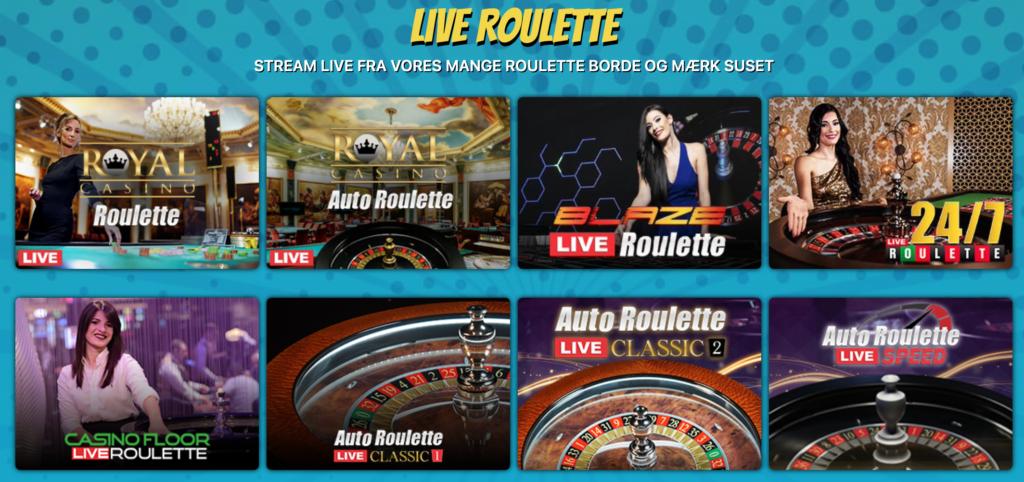 Live roulette hos Kapow Casino