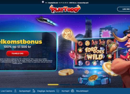 PlayToro hjemmeside