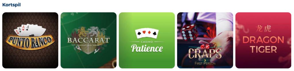 Spil kortspil hos PlayToro
